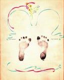 Paginación del álbum del bebé de la vendimia fotografía de archivo libre de regalías