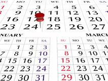 Paginación del calendario 2009 Foto de archivo libre de regalías