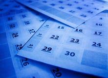 Paginación del calendario Fotografía de archivo libre de regalías