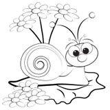 Paginación del colorante - caracol y margarita Fotografía de archivo libre de regalías