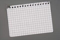 Paginación del cuaderno Foto de archivo libre de regalías