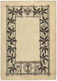 Paginación del libro de la vendimia con un marco Fotos de archivo libres de regalías