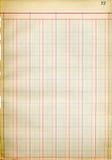 Paginación del libro mayor de la antigüedad Imágenes de archivo libres de regalías
