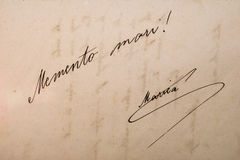 Paginación del libro viejo Imágenes de archivo libres de regalías