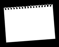 Paginación en blanco Foto de archivo