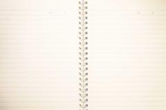 Paginación en blanco del cuaderno Imágenes de archivo libres de regalías