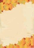 Paginación envejecida con textura de la hoja Foto de archivo libre de regalías