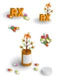 Paginación llena de las ilustraciones herbarias de los remedios Imágenes de archivo libres de regalías