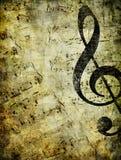 Paginación musical vieja Foto de archivo libre de regalías