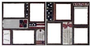 Paginación patriótica del libro de recuerdos de Digitaces Fotografía de archivo
