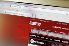 paginación principal del intenet de ESPN.com Imagen de archivo libre de regalías