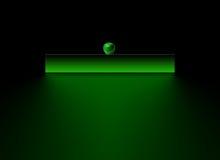 Paginación verde de la insignia Foto de archivo libre de regalías
