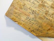 Paginación vieja de la agenda Fotos de archivo libres de regalías