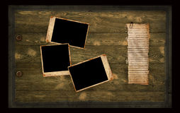 Paginación vieja del álbum de foto Imagen de archivo libre de regalías