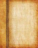 Paginación vieja del cuaderno del grunge Fotografía de archivo libre de regalías