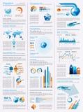 Paginación de Infographics con muchos elementos del diseño Imagen de archivo libre de regalías