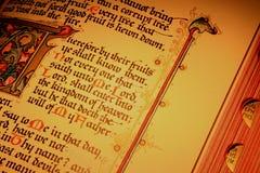 Paginaciones 7 de la biblia Imágenes de archivo libres de regalías