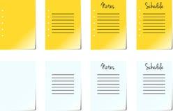 Paginaciones de la pista de nota Fotografía de archivo libre de regalías