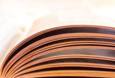 Paginaciones de un libro abierto fotos de archivo libres de regalías