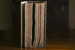 Paginaciones de un libro viejo fotografía de archivo