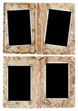 Paginaciones del álbum de Grunge con los marcos de la foto Imagen de archivo libre de regalías