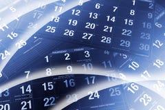Paginaciones del calendario imágenes de archivo libres de regalías