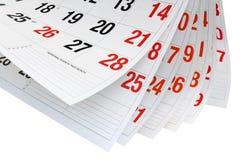 Paginaciones del calendario Imagen de archivo