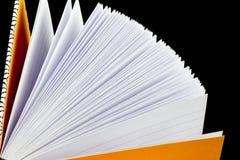 Paginaciones del cuaderno fotografía de archivo