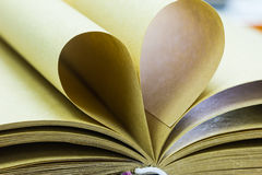 Paginaciones del libro abierto fotografía de archivo