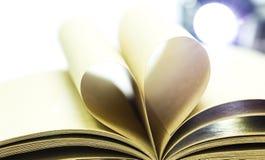 Paginaciones del libro abierto imagen de archivo
