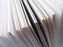 Paginaciones del libro blanco Foto de archivo libre de regalías
