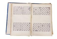 Paginaciones del libro del ajedrez Imagen de archivo