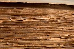 Paginaciones del libro viejo Imagen de archivo libre de regalías