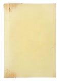 Paginaciones del libro viejo aisladas fotografía de archivo