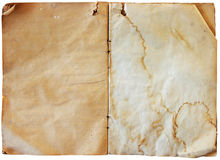 Paginaciones en blanco de la vendimia Imágenes de archivo libres de regalías
