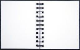 Paginaciones en blanco de un cuaderno Fotografía de archivo
