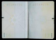 Paginaciones en blanco del pasaporte fotografía de archivo libre de regalías