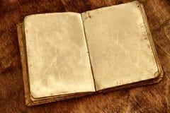 Paginaciones en blanco en un libro foto de archivo