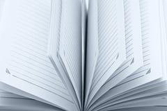 Paginaciones vacías de la libreta fotografía de archivo