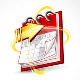 Paginaciones y flecha del calendario Fotos de archivo libres de regalías