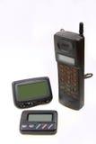 Paginador y teléfono celular sin hilos Fotos de archivo