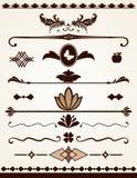 Paginagrenzen, verdelers en decoratie Royalty-vrije Stock Fotografie
