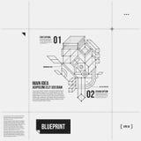 Paginalay-out met abstract 3d element in ontwerpstijl Royalty-vrije Stock Afbeeldingen