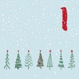 Pagine a Advent Calendar 25 días de la Navidad con el espacio para el texto Foto de archivo libre de regalías