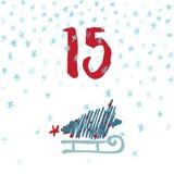 Pagine a Advent Calendar 25 días de la Navidad con el espacio para el texto Fotografía de archivo libre de regalías