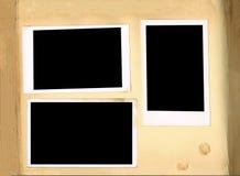 Pagine antiche dell'album di foto Immagine Stock