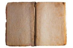 Pagine aperte strutturate antiche del libro Fotografia Stock Libera da Diritti