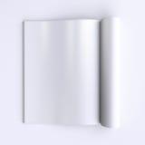 Pagine in bianco del modello di un giornale aperto, dei giornali o dei libri Fotografia Stock Libera da Diritti