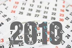 Pagine del calendario Immagini Stock