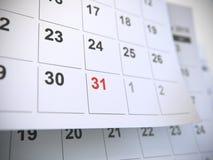 Pagine del calendario, concetto di tempo fotografia stock